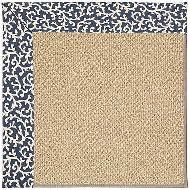 Capel Zoe Machine Tufted Midnight/Brown Indoor/Outdoor Area Rug; Rectangle 2' x 3'