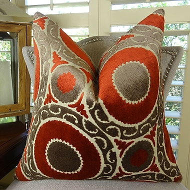 Plutus Brands Pomegranate Double Sided Throw Pillow; 16'' H x 16'' W