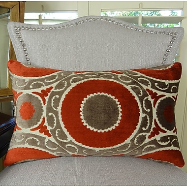 Plutus Brands Pomegranate Lumbar Pillow; 12'' H x 25'' W