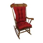 Klear Vu Twill Rocking Chair Cushion; Red
