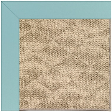 Capel Zoe Machine Tufted Seafaring Blue/Brown Indoor/Outdoor Area Rug; Square 8'