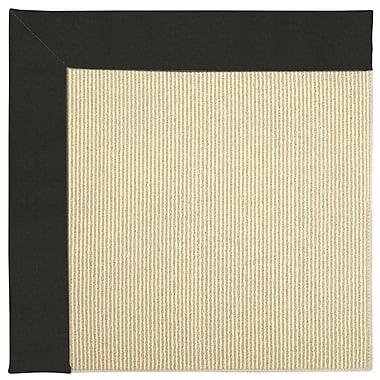 Capel Zoe Machine Tufted Black/Beige Indoor/Outdoor Area Rug; Square 6'