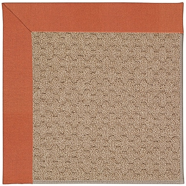 Capel Zoe Grassy Mountain Machine Tufted Clay/Brown Indoor/Outdoor Area Rug; Round 12' x 12'