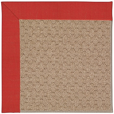 Capel Zoe Grassy Mountain Machine Tufted Red/Brown Indoor/Outdoor Area Rug; Rectangle 7' x 9'