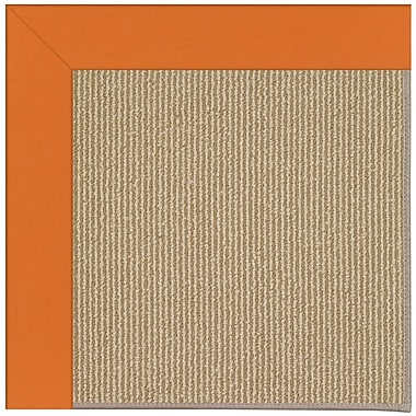 Capel Zoe Machine Tufted Clementine/Brown Indoor/Outdoor Area Rug; Square 10'