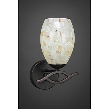 Toltec Lighting Revo 1-Light Wall Sconce; Dark Granite
