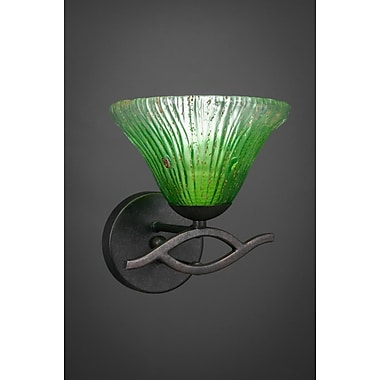 Toltec Lighting Revo 1-Light Wall Sconce; Dark Granite