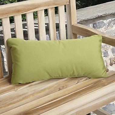 Mozaic Company Knife Edge Indoor Outdoor Sunbrella Lumbar Pillow (Set of 2); Macaw Green