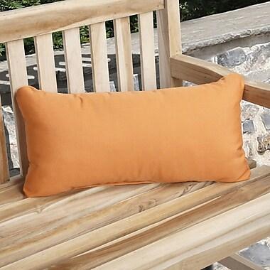 Mozaic Company Knife Edge Indoor Outdoor Sunbrella Lumbar Pillow (Set of 2); Tangerine