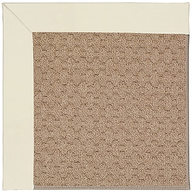 Capel Zoe Grassy Mountain Machine Tufted Alabaster/Brown Indoor/Outdoor Area Rug; Square 4'