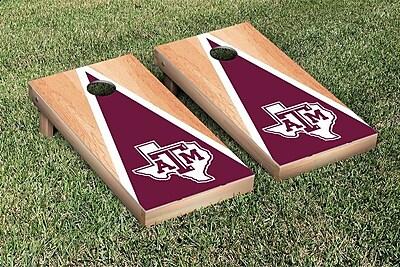 Victory Tailgate NCAA Hardcourt Triangle Version Cornhole Game Set; Texas A&M University Aggies