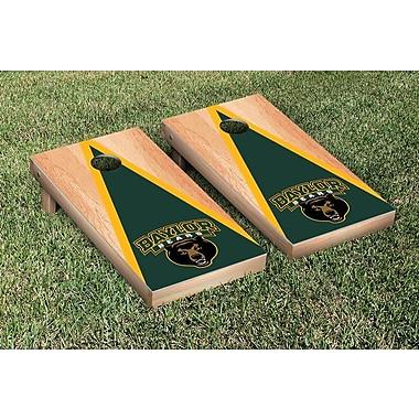 Victory Tailgate NCAA Hardcourt Triangle Version Cornhole Game Set; Baylor Bears