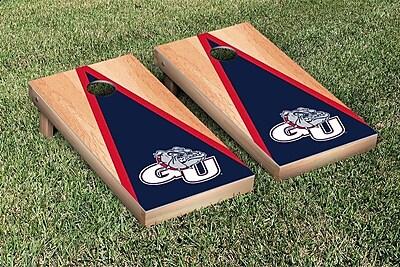 Victory Tailgate NCAA Hardcourt Triangle Version Cornhole Game Set; Gonzaga University Bulldogs