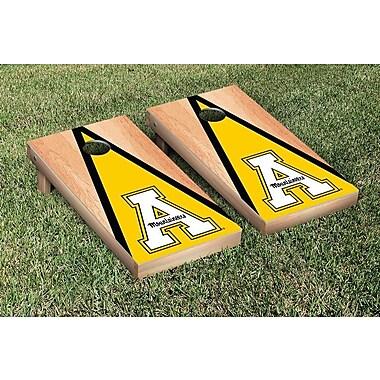 Victory Tailgate NCAA Hardcourt Triangle Version Cornhole Game Set; Appalachian State Mountaineers