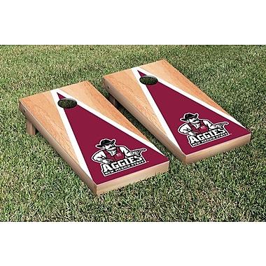 Victory Tailgate NCAA Hardcourt Triangle Version Cornhole Game Set; New Mexico State Aggies