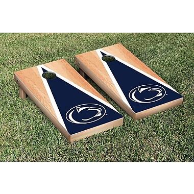 Victory Tailgate NCAA Hardcourt Triangle Version Cornhole Game Set; Penn State PSU Nittany Lions