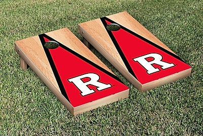 Victory Tailgate NCAA Hardcourt Triangle Version Cornhole Game Set; Rutgers Scarlet Knights