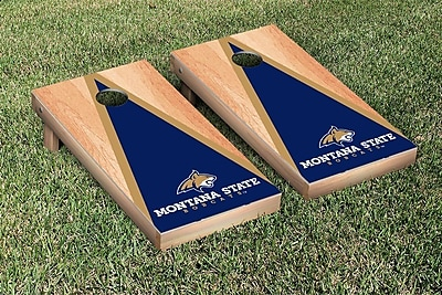 Victory Tailgate NCAA Hardcourt Triangle Version Cornhole Game Set; Montana State Bobcats