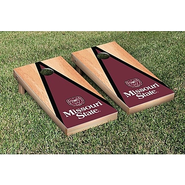 Victory Tailgate NCAA Hardcourt Triangle Version Cornhole Game Set; Missouri State MSU Bears