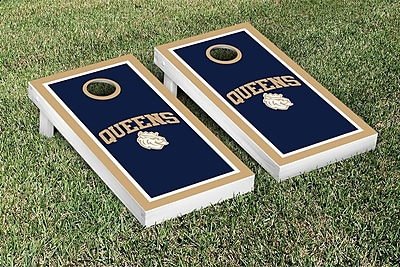 Victory Tailgate NCAA Cornhole Game Set; Queens University of Charlotte Royals