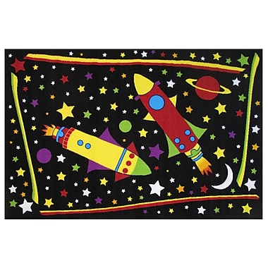 Fun Rugs Fun Time Outer Space Black Area Rug