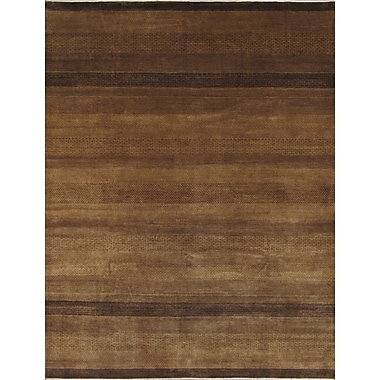 Pasargad Gabbeh Hand-Knotted Brown Area Rug; 6'1'' x 8'10''
