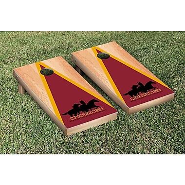 Victory Tailgate NCAA Hardcourt Triangle Version Cornhole Game Set; Midwestern State MSU Mustangs