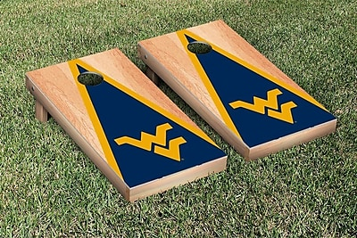 Victory Tailgate NCAA Hardcourt Triangle Version Cornhole Game Set; West Virginia WVU Mountaineers