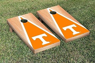 Victory Tailgate NCAA Hardcourt Triangle Version Cornhole Game Set; Tennessee Vols Volunteers