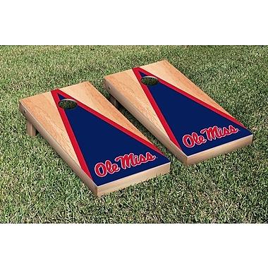 Victory Tailgate NCAA Hardcourt Triangle Version Cornhole Game Set; Ole Miss Rebels