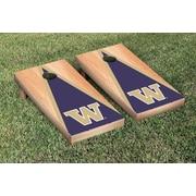 Victory Tailgate NCAA Hardcourt Triangle Version Cornhole Game Set; Washington UW Huskies