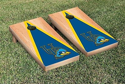 Victory Tailgate NCAA Hardcourt Triangle Version Cornhole Game Set; Delaware UD Blue Hens