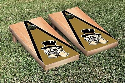 Victory Tailgate NCAA Hardcourt Triangle Version Cornhole Game Set; Wake Forest Demon Deacons