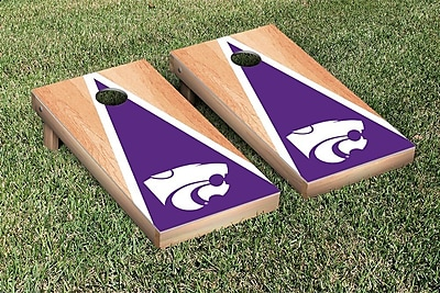 Victory Tailgate NCAA Hardcourt Triangle Version Cornhole Game Set; Kansas State K State Wildcats