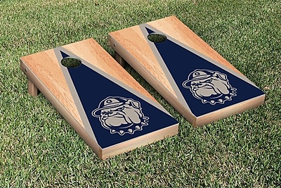 Victory Tailgate NCAA Hardcourt Triangle Version Cornhole Game Set; Georgetown Hoyas