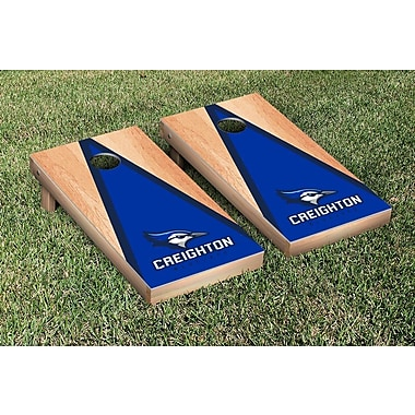 Victory Tailgate NCAA Hardcourt Triangle Version Cornhole Game Set; Creighton University Bluejays