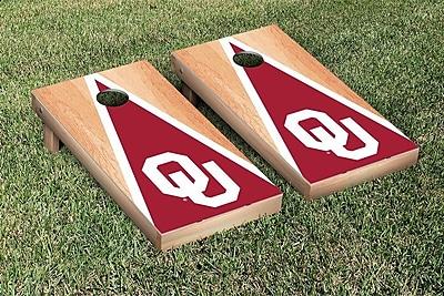 Victory Tailgate NCAA Hardcourt Triangle Version Cornhole Game Set; Oklahoma Sooner