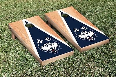 Victory Tailgate NCAA Hardcourt Triangle Version Cornhole Game Set; Connecticut UCONN Huskies