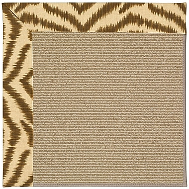 Capel Zoe Machine Tufted Tawny/Brown Indoor/Outdoor Area Rug; Rectangle 9' x 12'