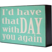 American Mercantile Wood 'That Day' Textual Art