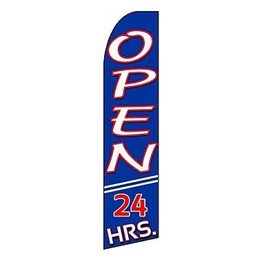 NeoPlex Open 24 Hours Swooper Flag