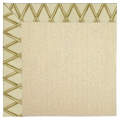 Capel Zoe Machine Tufted Bamboo/Brown Indoor/Outdoor Area Rug; Square 4'