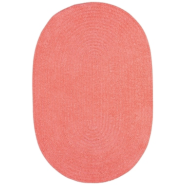 Capel Custom Classics Braided Bubblegum Area Rug; Oval 8' x 11'