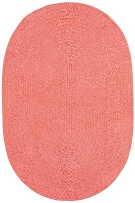 Capel Custom Classics Braided Bubblegum Area Rug; Runner 2' x 8'