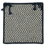 Colonial Mills Outdoor Houndstooth Tweed Chair Pad (Set of 4); Navy