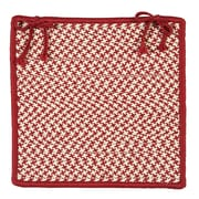 Colonial Mills Outdoor Houndstooth Tweed Chair Pad (Set of 4); Sangria