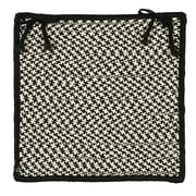 Colonial Mills Outdoor Houndstooth Tweed Chair Pad (Set of 4); Black