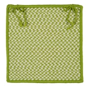 Colonial Mills Outdoor Houndstooth Tweed Chair Pad (Set of 4); Lime