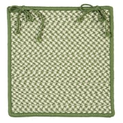 Colonial Mills Outdoor Houndstooth Tweed Chair Pad (Set of 4); Leaf Green
