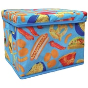 Iscream Junk Food Collapsible Fabric Storage Bin w/ Lid and Handle